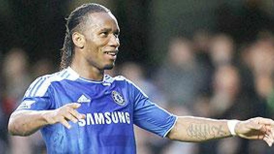 Drogba is confident Chelsea can finish in the top four this season. Net photo.