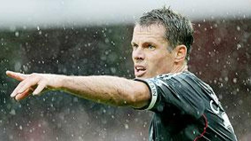 Jamie Carragher has slipped down the pecking order at Anfield this season