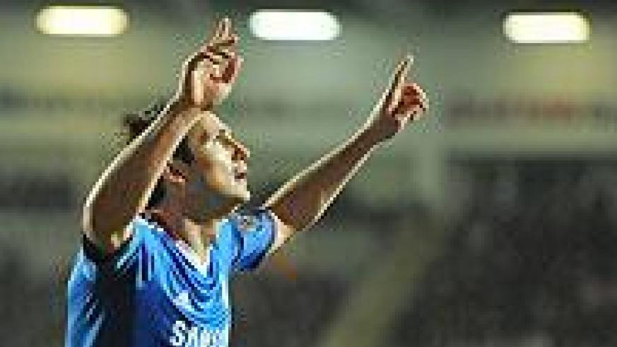 Frank Lampard put the gloss on the victory with a well-taken third goal.  Net photo.