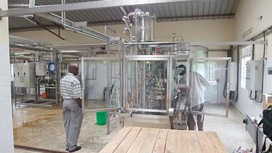 A milk processing plant in Nyagatare. The province wants to open another in Kayonza. The New Times File