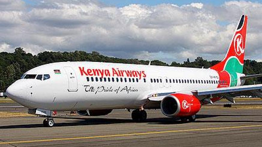 A Kenya Airways plane. The New Times / File.