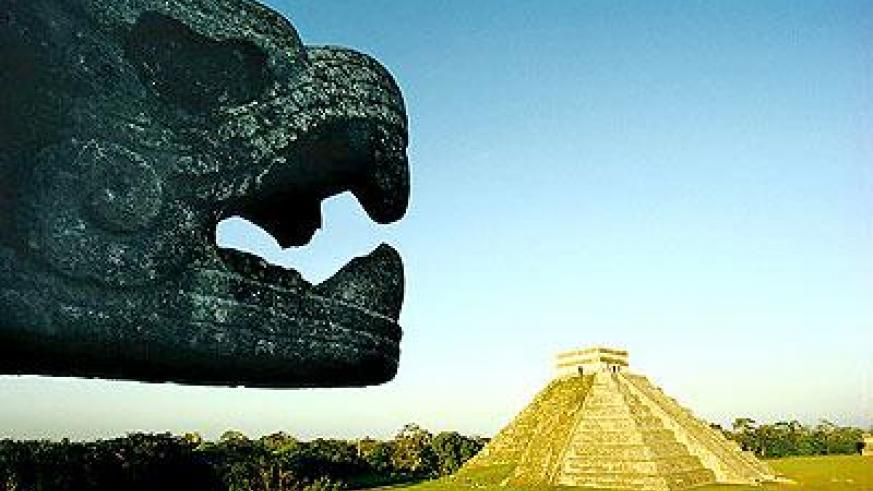 The Pyramid at Chichen Itza; Mexico is one of the New Seven Wonders of the World. b Net photo