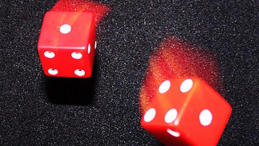 The dice used in most gambling games Net photo.