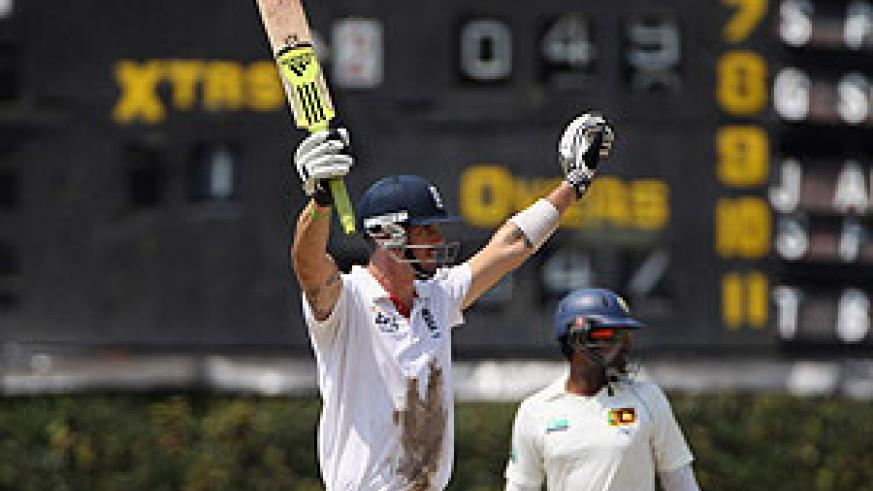 Kevin Pietersen struck the winning runs in Colombo. Net photo