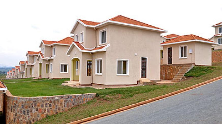 Kabuga hillside housing estate in Kigali; Banks have asked government to provide subsidies in purchase of land. The New Times / File.