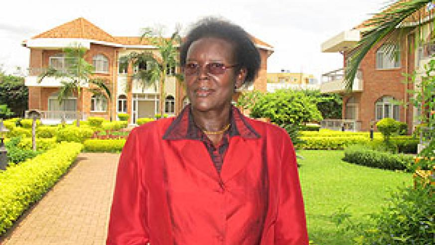 Anne Marie Kantengwa in the grounds of Chez Lando Hotel. The New Times / Pelagie N. Mbabazi.