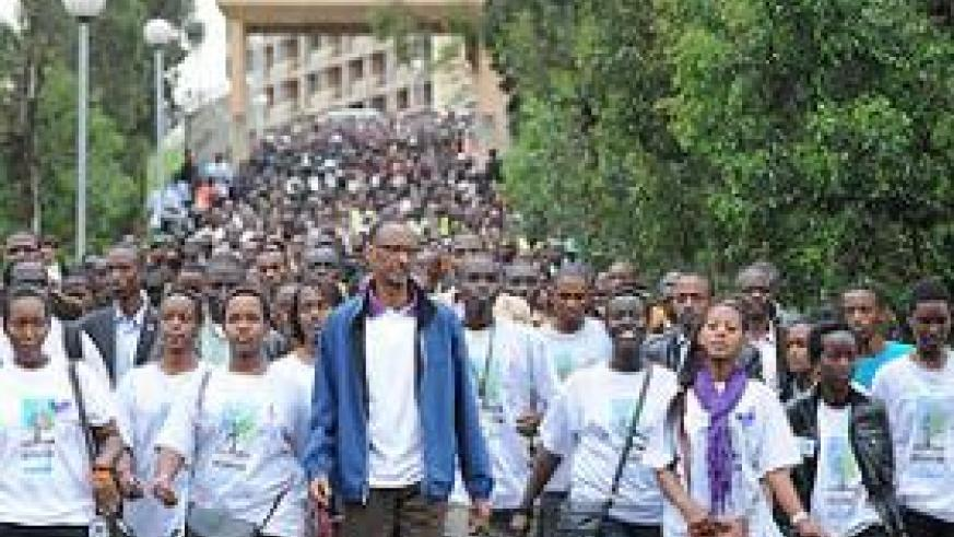 Rwanda's youth are encouraged to participate in nation building. Coutesy photo.