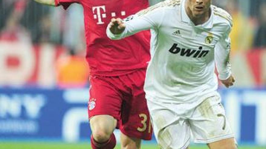Cristiano Ronaldo failed to make a major impact against Bayern Munich on Tuesday. Net photo.