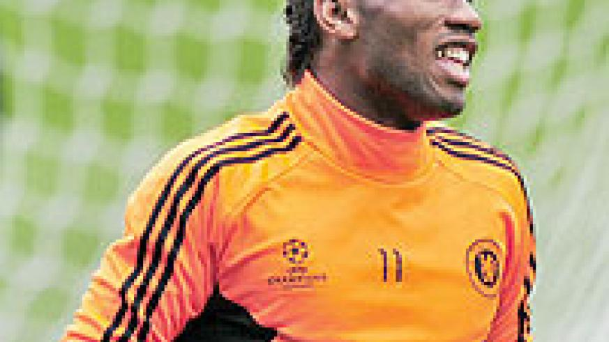 Didier Drogba is set to be fit for Chelsea's trip to Camp Nou on Tuesday night.  Net photo.
