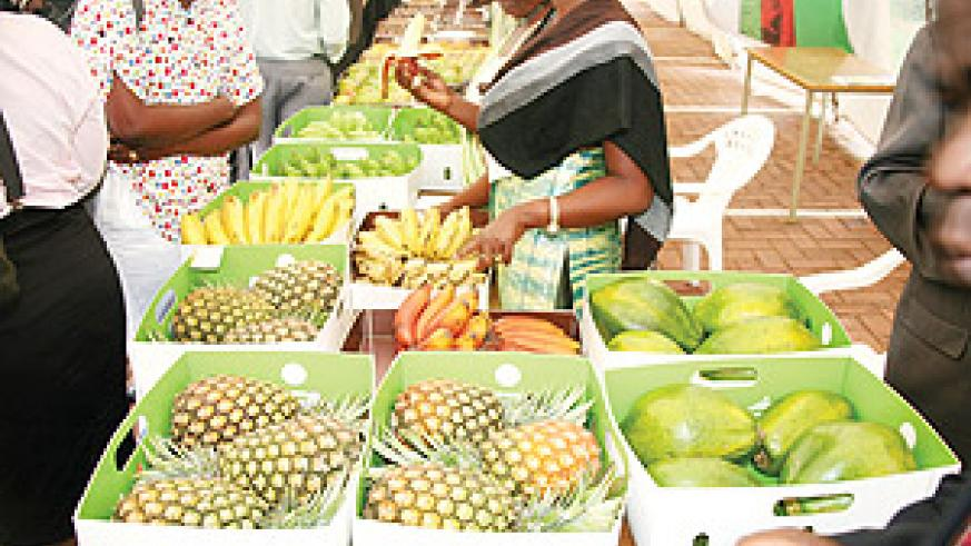 Rwanda exports some of its food harvests in the EAC.  The country needs to adress the high cost of trade if it is  to become a regional trade logistics hub Rwanda's food exports Agrobiz . The New Times / File.