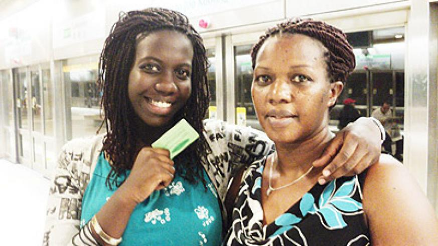 ashaba Kamahoro with her mom on the previous mothers day. The New Times / P. Buchana.