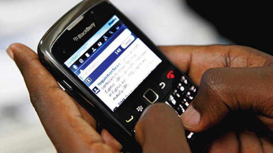Mobile technology is increasingly becoming a necessity in Rwanda.The New Times / File.