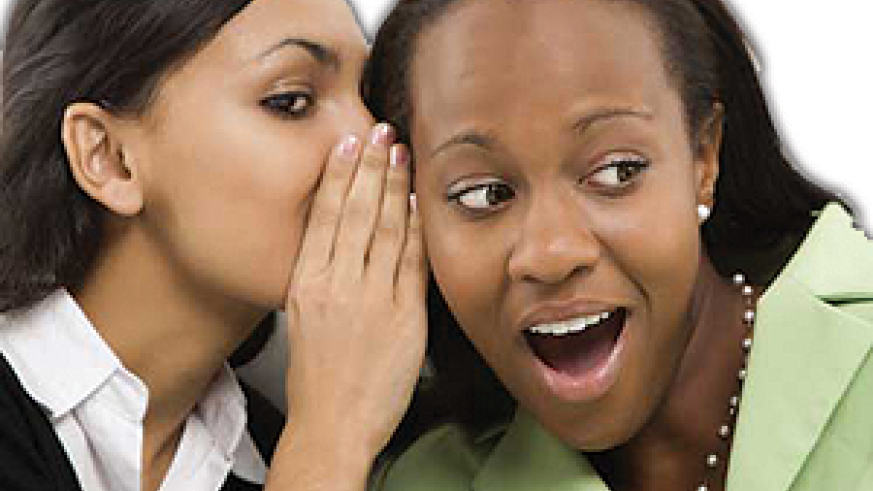 women gossiping about issues that should be private. Net photo.
