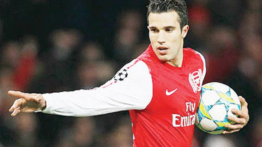 Robin van Persie cannot be deemed a mercenary after all those seasons in north London. Net photo.