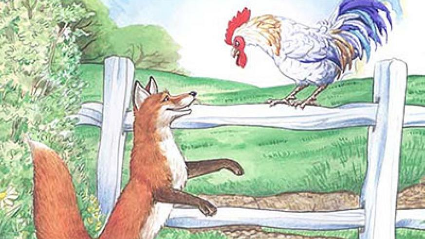 Fox had a hard time keeping secrets from other animals. Net photo.