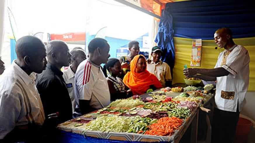 Exhibitors at the on going trade fair. New Times / File.