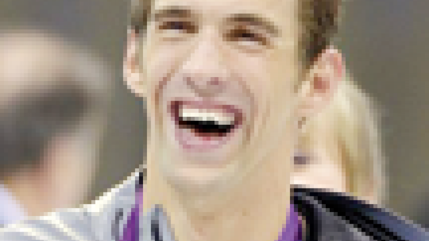 United States' swimmer Michael Phelps smiles. Net photo.