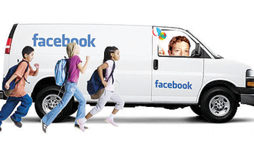 Parents should prevent young children from using Facebook.  Net photo.