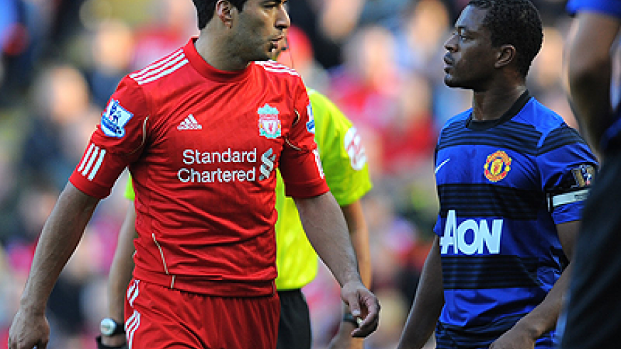 Luis Suarez was banned for eight matches last year for racially abusing Patrice Evra. Net photo.