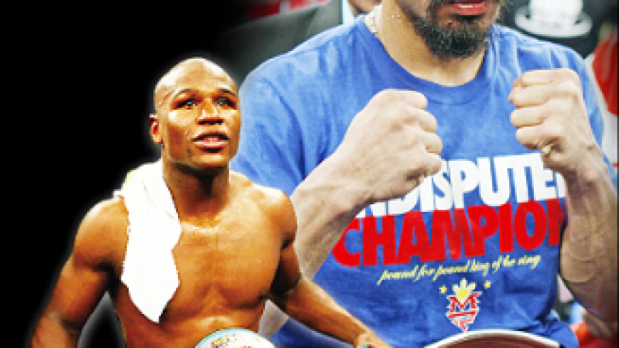 Manny Pacquiao (L) has openly told Floyd Mayweather Junior (R). Net photo.