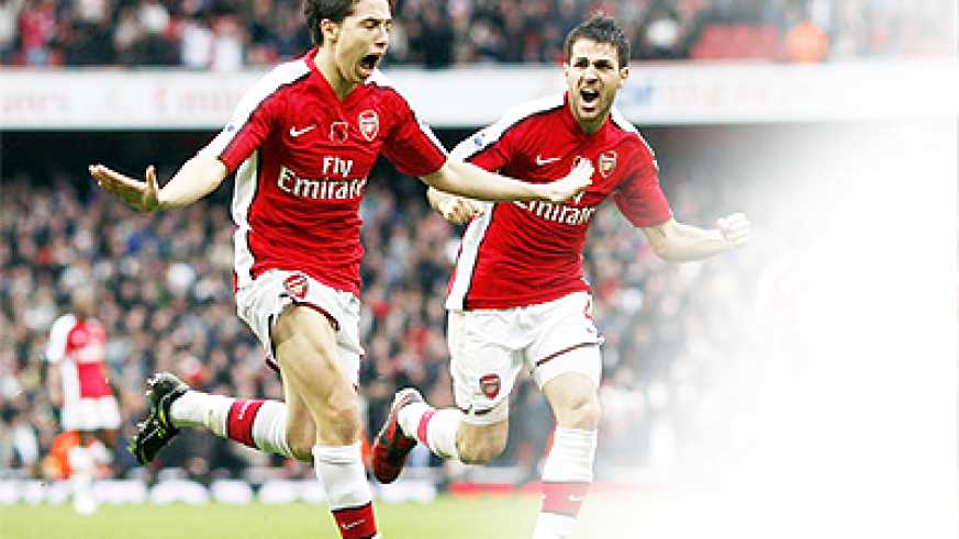 Samir Nasri (L) and Cesc Fabregas (R) were both sold last season to Manchester City and Barcelona, respectively. Net photo.