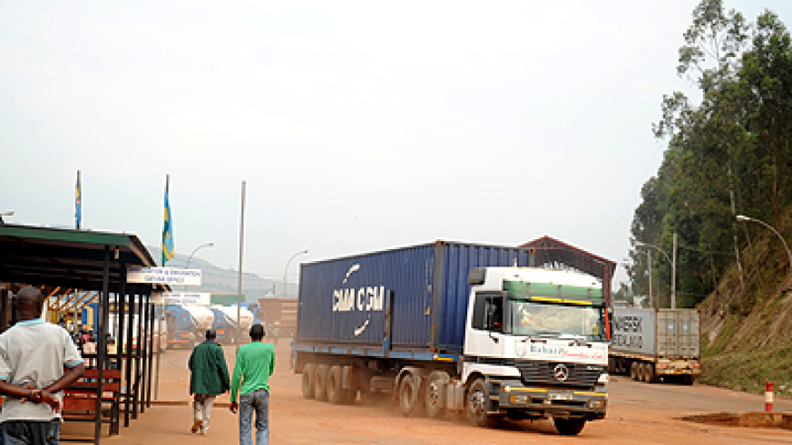 A truck at Gatuna Boarder Informal trade is the main driver of Rwanda's exports. The New Times / File.