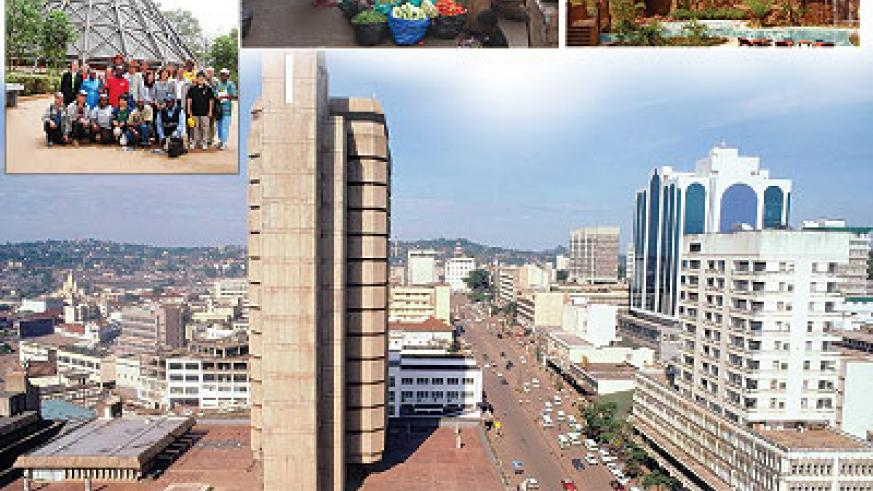 An Aerial view of Kampala Road.