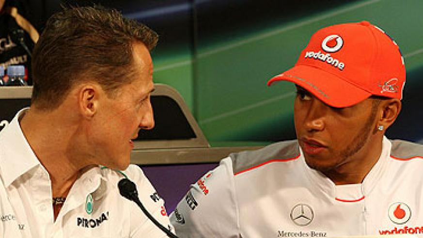 Lewis Hamilton joins Mercedes in place of Michael Schumacher.  Net photo.
