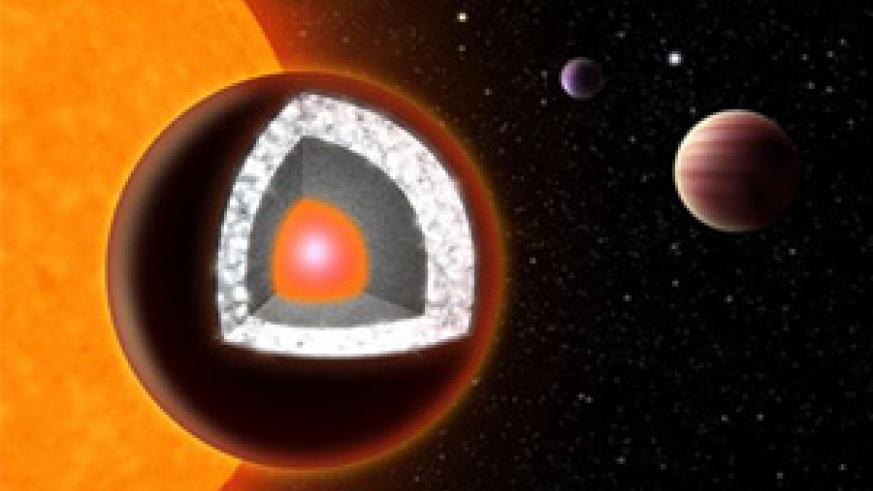 The planet is thought to contain as much diamond as the mass of three Earths. Net photo.