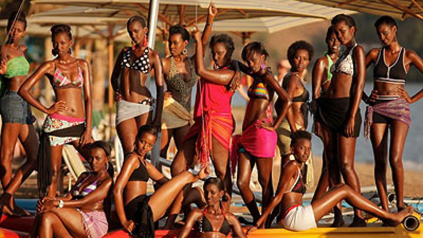 MISS RWANDA 2012 FINALISTS Around the African continent, many people wonder why the word beauty should be lavished on women with just skin and bone.