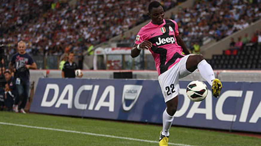 Ghanaian midfielder Kwadwo Asamoah has become a key player for Juventus. Net photo.