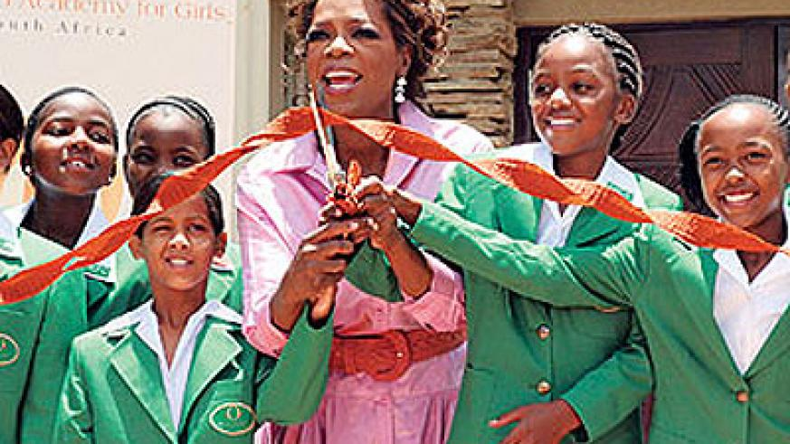 Oprah Winfrey has been an ispiration to many young people around the world.  Net photo.
