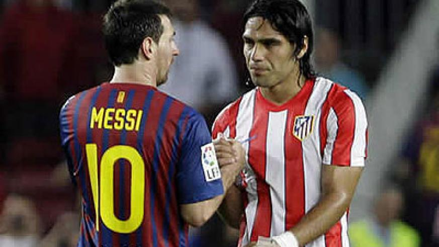 Lionel Messi will be coming up against Atletico Madrid's Radamel Falcao this weekend in the Spanish League.