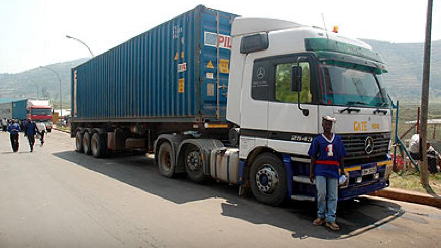 A truck awaiting clearance at the Gatuna border post ; TradeMarkEA will fund the construction of the Kagitumba-Mirama Hills border post on the RwandaUganda border. The New Times / File .