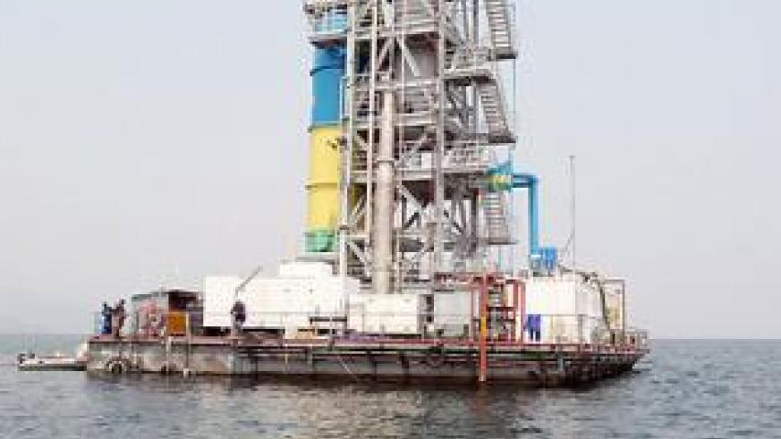 The methane gas extraction plant at Lake Kivu. The New Times / File.