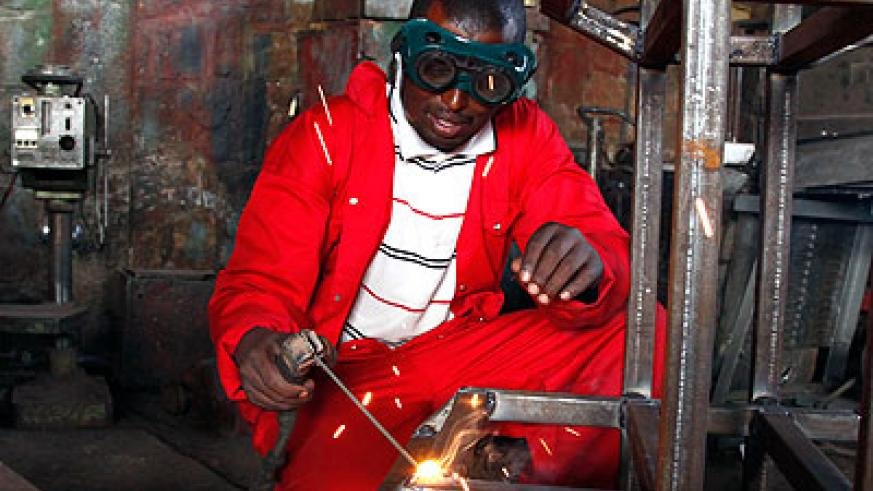 Metal fabrication is one of the areas that guarantees ready employment. The New Times / File.