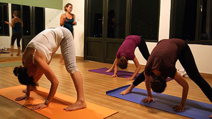 Flexible: A yoga class in session at city Arts. All photos / David Winston Hansen.