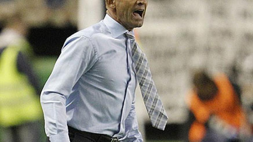 Coach Paco Jemez has guided modest Rayo into sixth place despite the club being in administration. Net photo.