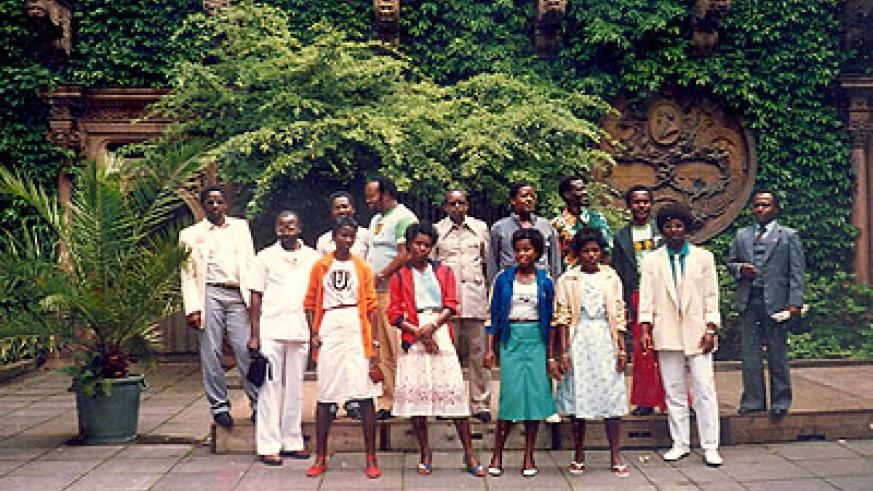 The entire Orchestre Impala during one of their many trips to Europe in the 1980's. All photos / Courtesy.