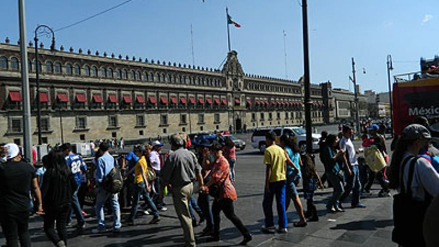 Zocalo square , section of the Presidential Palace.