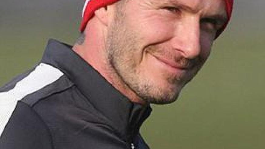 Beckham will be eager to impress in his first appearance against Marseille. Net photo.
