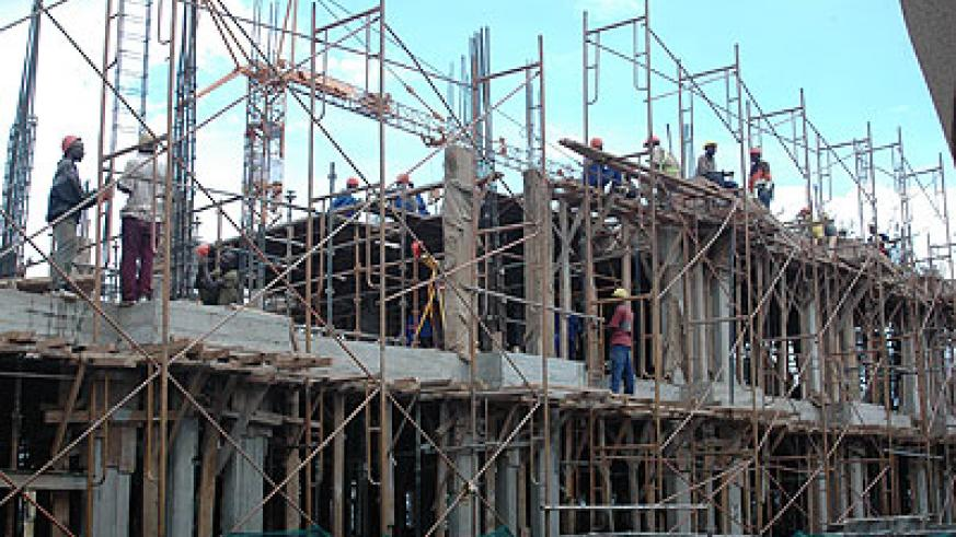 Builders at work. Many building products are not certified for quality.  The New Times/File