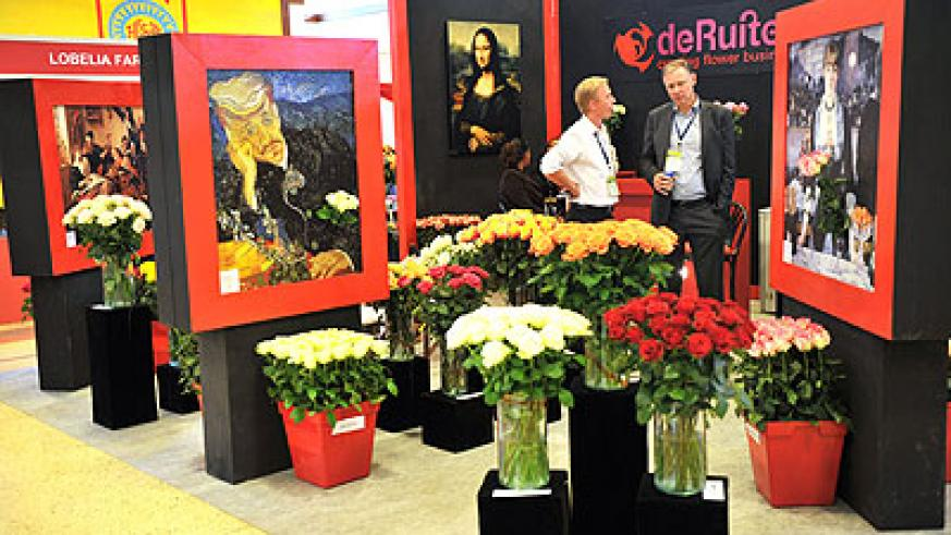 Cut roses on display at the International Flower Trade Expo in Nairobi, Kenya last year. Net photo