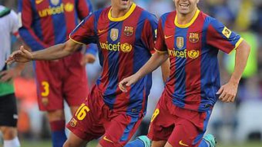 Andres Iniesta and Sergio.