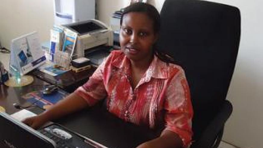 Mulinda's fear for failure drives her to work hard, which has seen her flourish and succeed as a clearing agent. The New Times / Peterson Tumwebaze