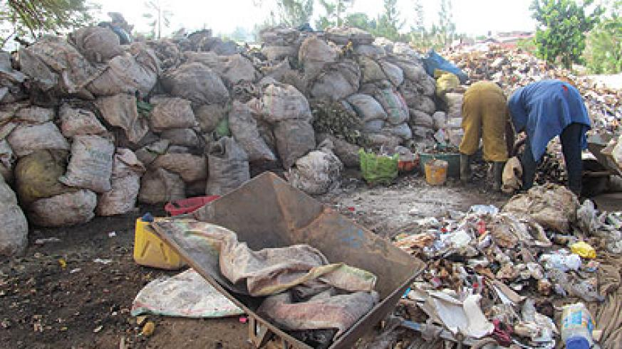 The co-operative's workers sorting waste. The New Times / Moise Iradukunda