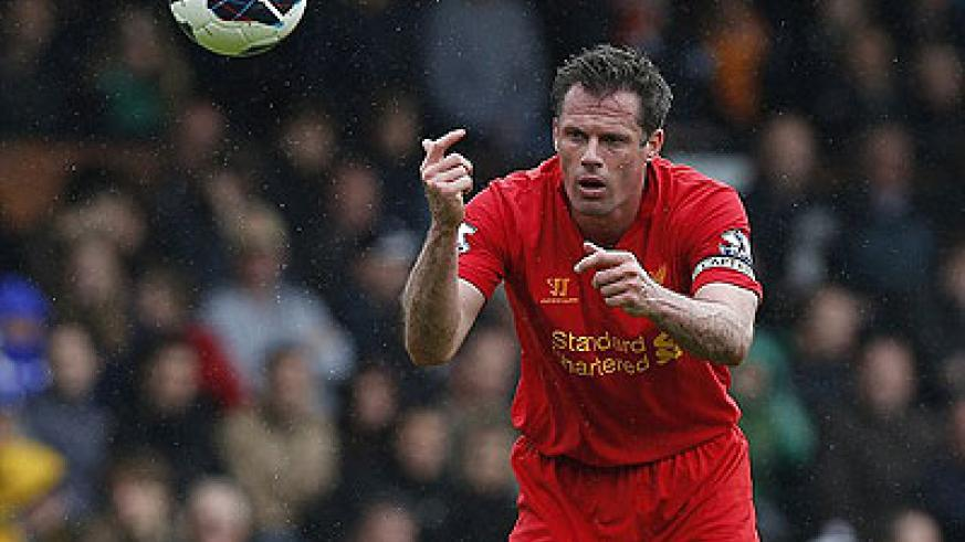 Liverpool defender Jamie Carragher is retiring at the end of the season. Net photo.