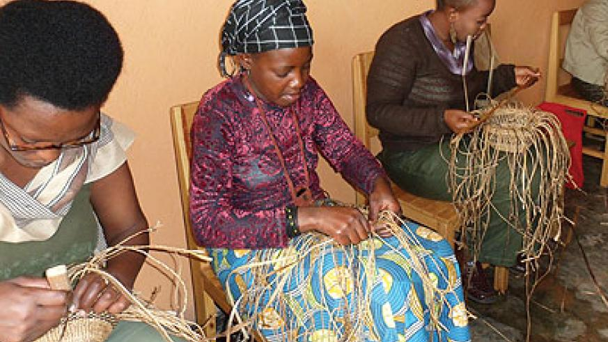 A women's group involved in craft-making in Nyamirambo, Kigali. BDF gives guarantee for such groups. The New Times / Triphomus Muyagu.