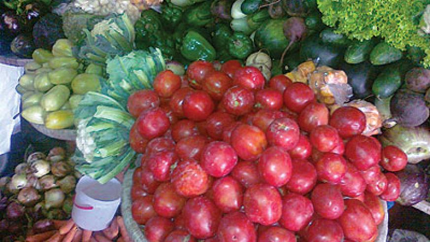 vegetable prices are unchanged compared to last week. The New Times / Peterson Tumwebaze