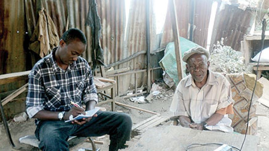 The writer with Mzee Ssuna